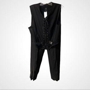 Jean Paul Gaultier 2 pc Set sheer pants & vest